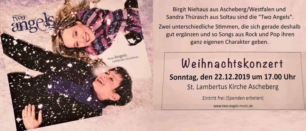 Weihnachtskonzert 22.12.2019 17:00Uhr - St.Lambertus Kirche -